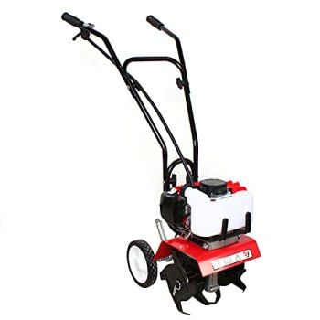 Motobineuse à essence 52 cc - 1,9 kW - Motobineuse sans fil - Cultivateur (motoculteur sans fil avec 4 lames, profondeur de travail 3-10 cm, largeur de travail 35 cm)
