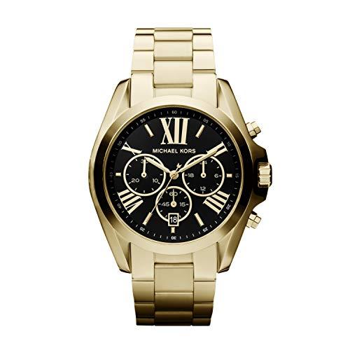 Michael Kors Damen Chronograph Quarz Uhr mit Edelstahl Armband MK5739