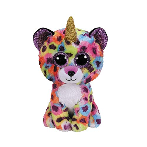 TY 36284 15 cm Giselle Leopard W/Horn-Beanie BOOS, Multicolored