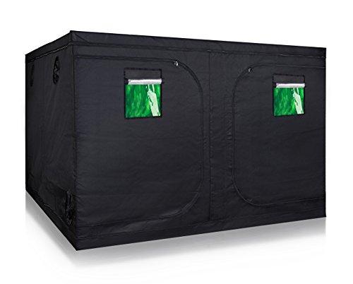 TopoLite 120'x120'x80' Indoor Grow Tent Hydroponic Growing Dark Room Green Box with Viewing Window