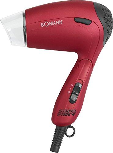 Bomann HTD 8005 CB - Sèche - cheveux de voyage - 1300 W - Rouge/Noir