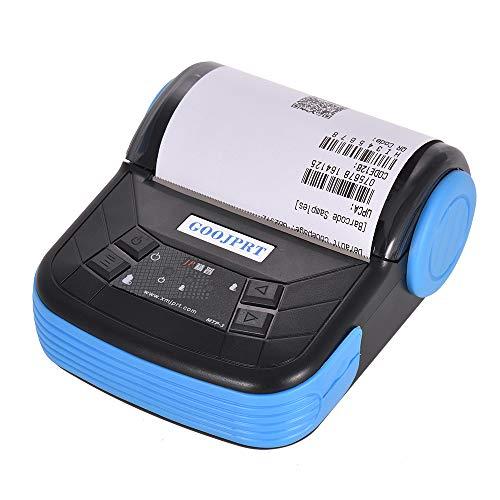 Aibecy Leggero portatile della stampante termica di 80mm BT di GOOJPRT MTP-3 per la ricevuta della ricevuta del biglietto del supermercato stampante termica 80 mm
