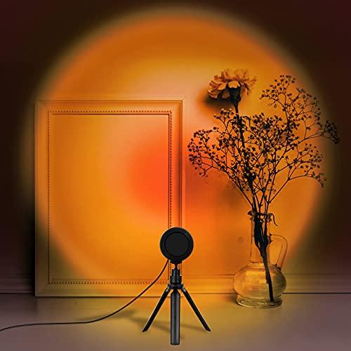 Sunset Lamp, LED Sunset Projector Light 360 Degree Rotation Sunset...