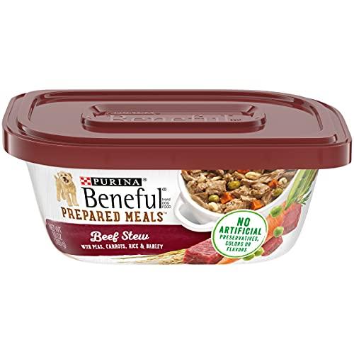 Purina Beneful Gravy Wet Dog Food, Prepared Meals Beef Stew - (8) 10 oz. Tubs