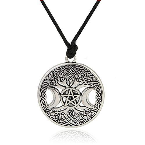 Celttic Knot Triple Moon Pentagram Pentacle Star Wicca...