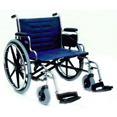 Invacare IVC Tracer IV Wheelchair 22' (450 lbs) with Removable Desk Arms and Footrest-Blue