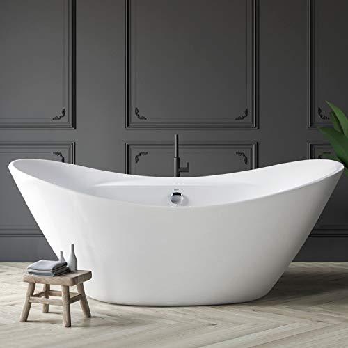FerdY Boracay Acrylic Freestanding Bathtub, F-02503-67 Gracefully Shaped...
