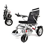 """Porto Mobility Ranger D09S, No.1 Best Rated Weatherproof Exclusive Lightweight Folding Electric Wheelchair, Dual """"500W"""" Motors, All Terrain, Dual Battery Portable Electric Wheelchair (Silver)"""