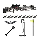 Tenpoint Titan M1 370 FPS Rope Sled Crossbow with Pro-View 3 Scope and HME Hunting Broadheads Bundle