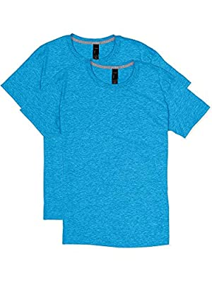 X-Temp, a dynamic moisture control technology, keeps you cool and dry 40+ UPF rating for UV protection 4.5 cover. Ring-spun cotton blend for the softest feel in performance tees Built for lasting comfort; tag-free, cover-seamed neck and shoulder-to-s...