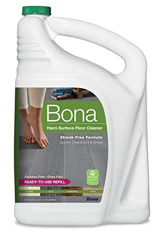Bona Hard-Surface Floor Cleaner Refill, 128 Fl Oz (Pack of 1), Clear