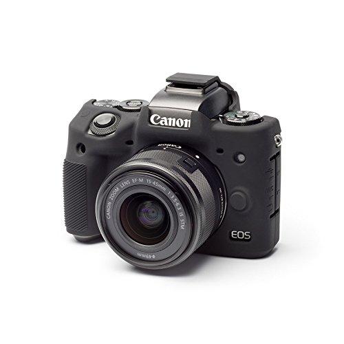 DISCOVERED イージーカバー Canon EOS M5 用 カメラカバー ブラック 液晶保護フィルム付