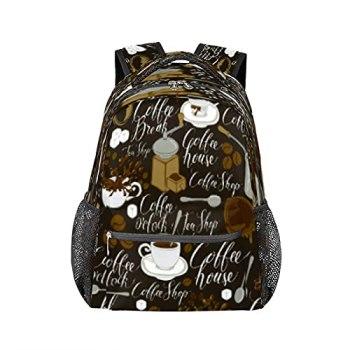 Sac à dos pour ordinateur portable - Moulin à café et cuillère - Durable - Résistant à l'eau - Pour l'école, le voyage, la randonnée, le camping - Pour homme et femme