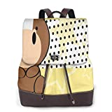 Yuanmeiju Womens Mochila de Cuero Cute Baby Horse Shoulder Daypack College Bag Ladies