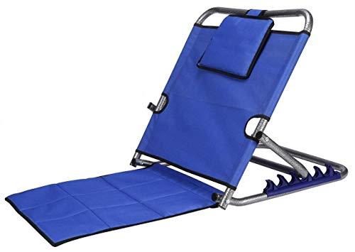 Mowell Orthopaedic Back Rest Adjustable & Foldable Lumbar Support Premium Memory Foam Cushion (Blue)...