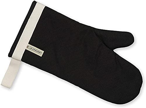 Le Creuset 95002300000000 Guanto da forno in tessuto, 14 Inch-Black, Nero
