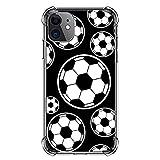 漫画のサッカー iphone11 透明携帯電話ケース カスタマイズ 手帳型ケース 衝撃吸収 ゴム製 携……