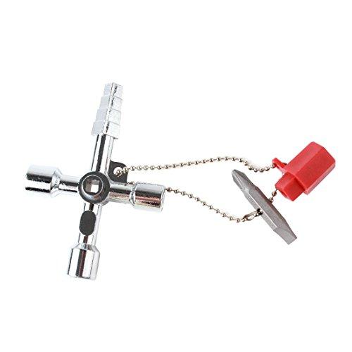Origlam 4WAY idraulici chiave multiuso universale, 4vie Utility idraulici multi Cross Key, lega...