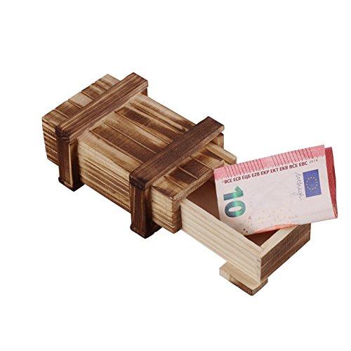 MS-Versand Zauberhafte Holzgeschenkbox - zum kreativen Verschenken von Gutscheinen, Schmuck und Geld...