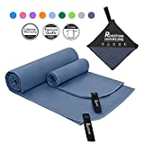 Relefree Microfiber Towel, 2 Sizes Sports, Travel, Camping Towel, XL(60x30'') & XS(24X15''), Quick Dry, Ultra Absorbent, Suitable for Fitness, Camping, Swimming, Backpacking