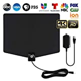 HDTV Antenna,[2020 Latest] Indoor Digital TV Antenna 120+ Miles Long Range with Support 4K 1080p & All Older TV's Indoor Powerful HDTV Amplifier Signal Booster - Coax Cable