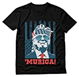 Donald Trump 2020 Shirt Murica 4th of July Patriotic American Party USA T-Shirt Large Black