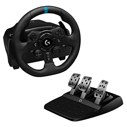 Logitech G923 Volante y Pedales de Carrera para PS5, PS4 y PC, Uk...