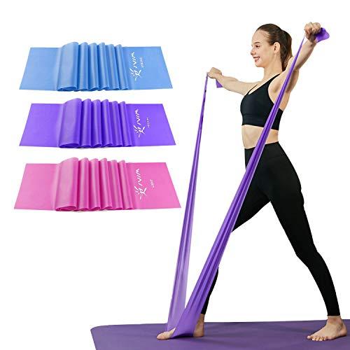 Risefit Set di Fasce di Resistenza Piatte per Terapia, Fasce Elastiche per Esercizi per Stretching,...