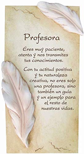 Framan PERGAMINO DE Piedra LABRADA con Textos para Ocasiones