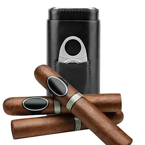 Garosa Boîte à Cigares Porte-étuis à Cigares Portable Cuir Cigare...