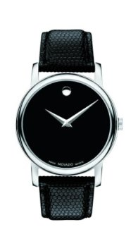 Movado Men's 2100002 Museum Black Stainless Steel Watch