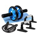 Odoland 3-in-1 AB Wheel Roller Kit AB Roller Pro with Push-Up Bar, Jump Rope and Knee Pad - Perfect Abdominal...