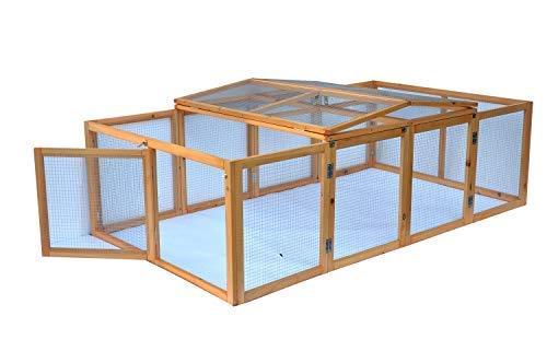 Hasen Kaninchen Freigehege Purzel XXL - faltbar - Natur - 200 x 113 x 53 cm