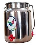 Love My Barnyard Backyard Chicken Poultry Waterer, Stainless 1.3...