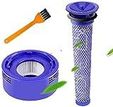 Filtre Compatible Dyson Aspirateur, Filtre de Rechange Dyson Filtre pour Dyson DC58 DC59 DC61 DC62 V6 V7 V8-1 * Pré-Filtre + 1 * Post-Filtre + 1 * Brosse de...