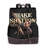 Yuanmeiju Blake Shelton 2 Womens Leather Multifunction Backpack