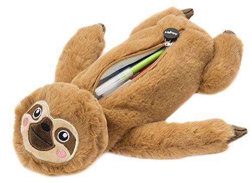 Fringoo Astuccio in peluche, per ragazzi e ragazze, dalla grande capacit, per cancelleria scolastica, a forma di bradipo Grande Sloth