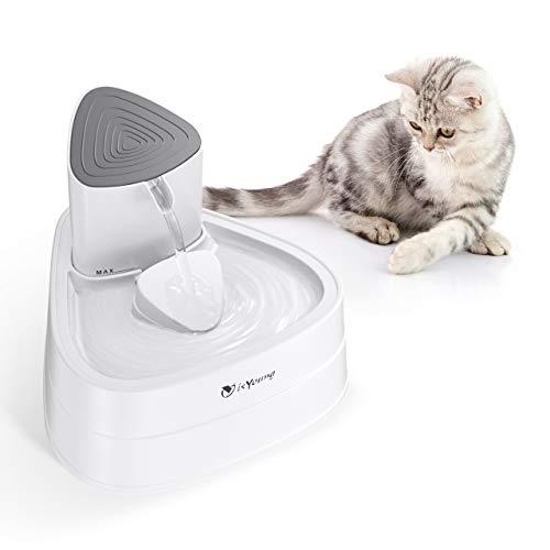 Fuente 3L con Filtro de Carbón Activado con Luz LED Fuente Automática y Silenciosa para Gatos (Blanco)