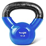 Yes4All Vinyl Coated Kettlebell Weights Set – Great for Full Body Workout and Strength Training – Vinyl Kettlebell 10 lbs