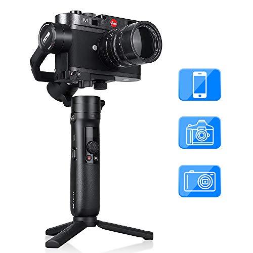 Zhiyun Crane M2 Gimbal Stabilizzatore, Handheld 3-Axis Gimbal Stabilizer Compatibile per iPhone Sumsung Huawei Smartphone Gopro 5 6 7 Sony Panasonic Canon, Fotocamera Compatta e Mirrorless Fino a 720g