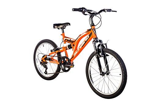 F.lli Schiano Rider Power 18V Bicicletta Biammortizzata, Antracite/Verde, 26'
