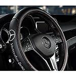 💎【取り付け 】 カーボン調 ロゴつき 本革 新品 (38cm) インテリア 内装パーツ カラー:ブラック/レッド/ワインレッド/ブラウン 💎【品質保証】にしっくりと馴染む本革の感触がしっとりとした操作感をもたらし、握り心地の良い本革でオールシーズン快適にドライブを楽しめます 💎【 デザイン 】適合車種: 全シリーズ対応 インストールも簡単、かぶせるだけでOKです! 💎【品質保証】無駄な装飾はなくシックで飽きのこないデザインですので長くご愛用頂けるはず! 💎【取り付け 】 カーボン調 ロゴつき ...