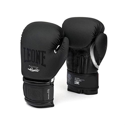 LEONE 1947 GN059 Guantes de Boxeo, Unisex – Adulto, Negro, 14OZ