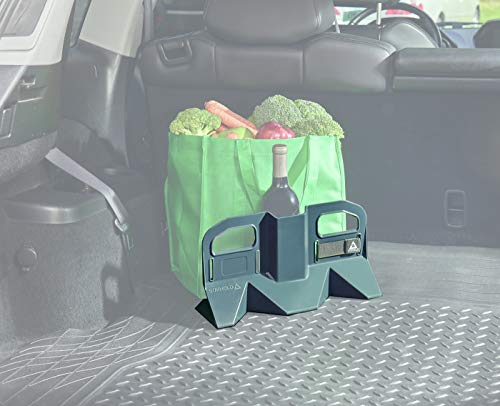 Stayhold Medium Trunk Organizer for Car, Truck, SUV – Space Saving Multipurpose Cargo Containment System – Grips Rubber Floor Liners