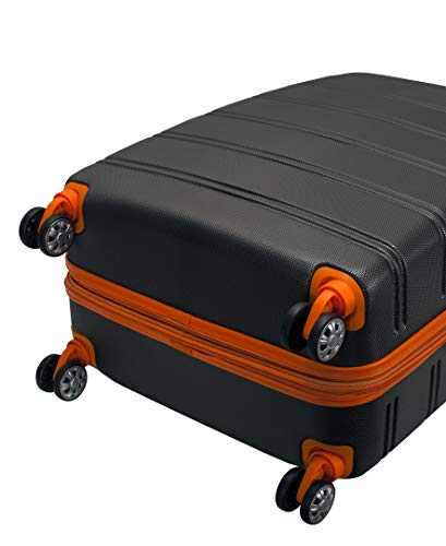 Product Image 5: Rockland Melbourne Hardside Expandable Spinner Wheel Luggage, Charcoal, 2-Piece Set (20/28)