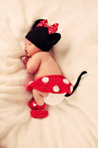 Crochet Baby Outfits Newborn Photography Prop Clothes Handmade...