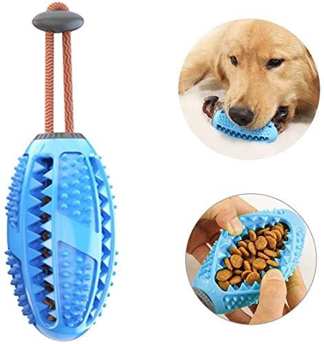 BTkviseQat Zahnbürsten-Stick,Hundezahnbürste Hundespielzeug Kauspielzeug,Ball Leckerli-Spender für Hunde Welpen-Zahnpflege, Bürsten und Kauspielzeug, ungiftiges Naturkautschuk