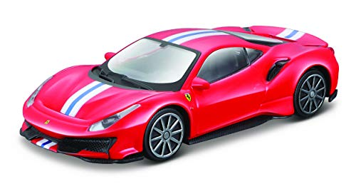 Bburago B18-36052 1:43 Ferrari Race and Play 488 Pista, RED