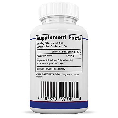 Pure Keto Shred 1200 Max 1200MG Keto Pills Advanced BHB Ketogenic Supplement Exogenous Ketones Ketosis for Men Women 60 Capsules 1 Bottle 2