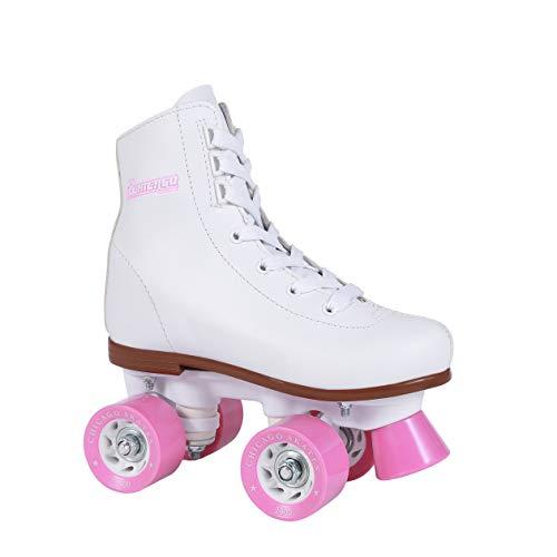 Chicago Girl's Classic Roller Skates – White Rink Skates - Size 1